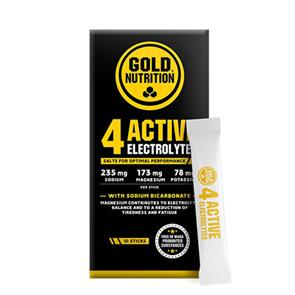 4 Active Electrolytes GoldNutrition 10 sticks de 3g