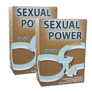 Pack 2 Sexual Power + Pau de Cabinda 40 cáps