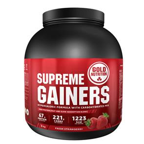 Supreme Gainers Morango GoldNutrition - 3kg